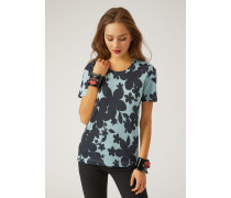 T-shirt Mit Blumenmuster