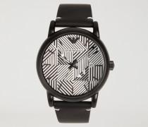 Uhr Mit Logomuster Auf Dem Zifferblatt