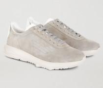 Sneaker Aus Velours Mit Geriffelter Gummisohle