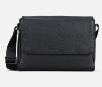 Messenger Bag Aus Narbenleder