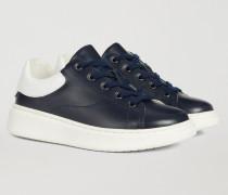 Sneaker Aus Nappaleder Mit Emporio Armani-logo