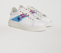 Sneakers aus Leder mit Seitlichen Aufdrucken