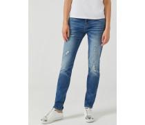 Skinny-jeans J06 aus Denim in Mitteldunkler Waschung mit Rissen