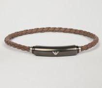 Armband aus Leder und Edelstahl