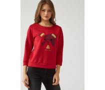 Sweatshirt Aus Neopren Mit 3/4-ärmeln