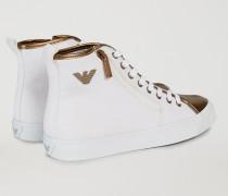 Sneaker Aus Baumwolltuch Mit Zweifarbiger Laminierung