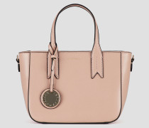 Kleine Handtasche mit Logo-anhänger