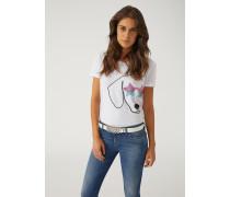 T-shirt Mit Aufgesticktem Hund Und Stern