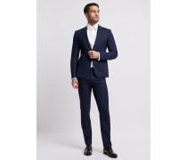 Einreihiger Anzug in Slim Fit aus Wollfresko