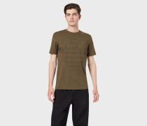 T-shirt Aus Baumwolljersey Mit Maxi-adler