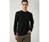 Pullover aus Reiner Schurwolle mit Einem Nadelzug-motiv