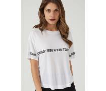 T-shirt aus Geflammtem Jersey mit Kultigem Giorgio Armani-zitat