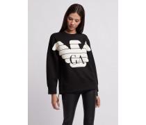 R-ea-mix Sweatshirt mit Gummiertem Maxi-logo