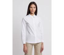 Bluse aus Seiden-crêpe-de-chine mit Verdeckter Knopfleiste