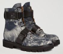 Combat Boots Aus Amelie Mit Schnallen