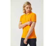 Poloshirt aus Baumwollstretch