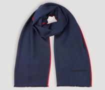 Schal aus Wolle und Seide mit Kontrastborte