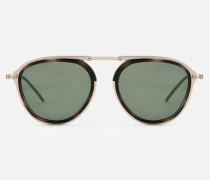 Sonnenbrille aus Metall mit Farbigen Gläsern