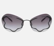 Sonnenbrille Mit Floralen Verzierungen
