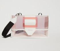 Crossbody Bag Aus Transparentem Pvc Mit Details Aus Glattem Leder