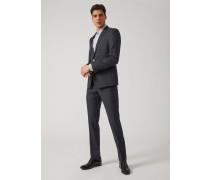 Slim Fit Anzug aus Kariertem Seidengemisch