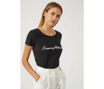 T-shirt Mit Emporio Armani Stickerei