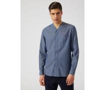 Hemd Aus Baumwolldenim Mit V-ausschnitt