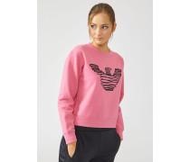 Sweatshirt aus Baumwolle mit Spiralförmiger Logostickerei