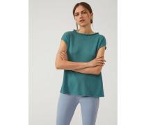 Kurzärmeliger Pullover aus Glattstrick-kaschmir