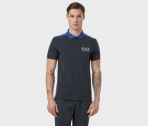 Poloshirt Aus Baumwolljersey Mit Stretch Mit Ea7-logo