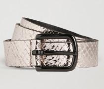 Gürtel aus Laminiertem Leder mit Pythonoptik