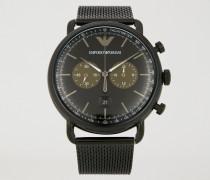 Chronograph aus Edelstahl mit Tachometer-zifferblatt