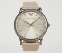 Uhr aus Rostfreiem Edelstahl und Leder 11116
