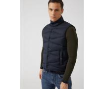 Ärmellose Jacke aus Stoff mit Diagonaler Absteppung