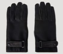 Handschuhe aus Leder und Wollwalk mit Riemen