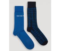2 Paar Socken Aus Leichtem Baumwollstrick