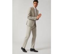 Einreihiger Anzug Aus Baumwollstretch