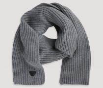 Schal aus Schurwolle im Netzpatentmuster
