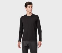Pullover aus Baumwolle mit Jacquard-logo