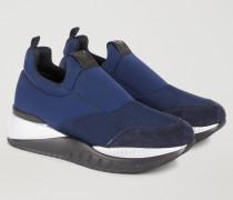 Slip-on-sneaker Aus Scuba Mit Veloursdetails