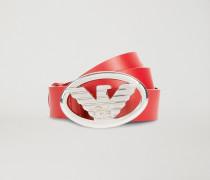 Gürtel aus Kunstleder mit Logo-schnalle