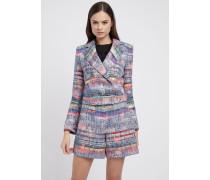 Doppelreihiger Blazer aus Mehrfarbigem Tweed