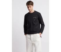 Sweatshirt aus Leichtem Scuba-stoff mit dem Motiv