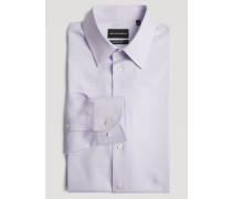 Modern Fit-hemd Aus Strukturierter, Gestreifter Baumwolle