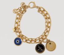 Evil Eye-armband Aus Edelstahl Mit Glücksbringer-anhänger