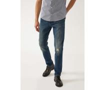 Jeans J06 Sand-waschung mit Eingearbeiteten Rissen