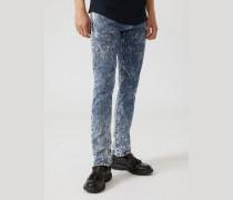 Extra Slim Fit Jeans J10 aus Comfort Denim in Marmoroptik
