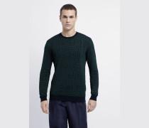 Pullover mit Kroko-motiv in Jacquard