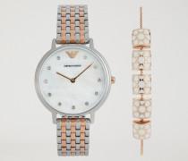 Geschenkset Mit Uhr Und Armband Aus Edelstahl