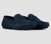 Driver-loafer aus Veloursleder mit Logo